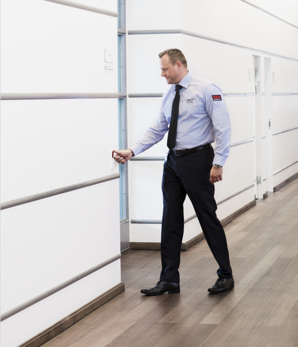 male security officer in an office