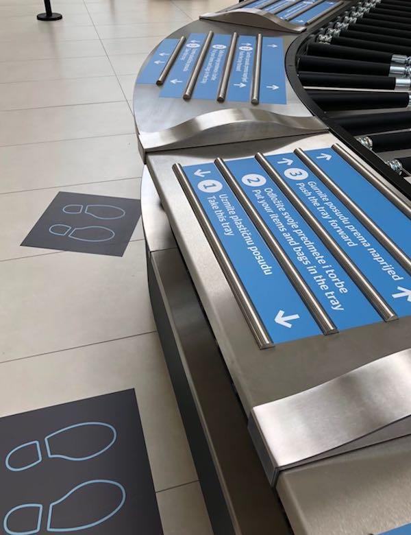 Securitas Aviation - luggage belt at airport